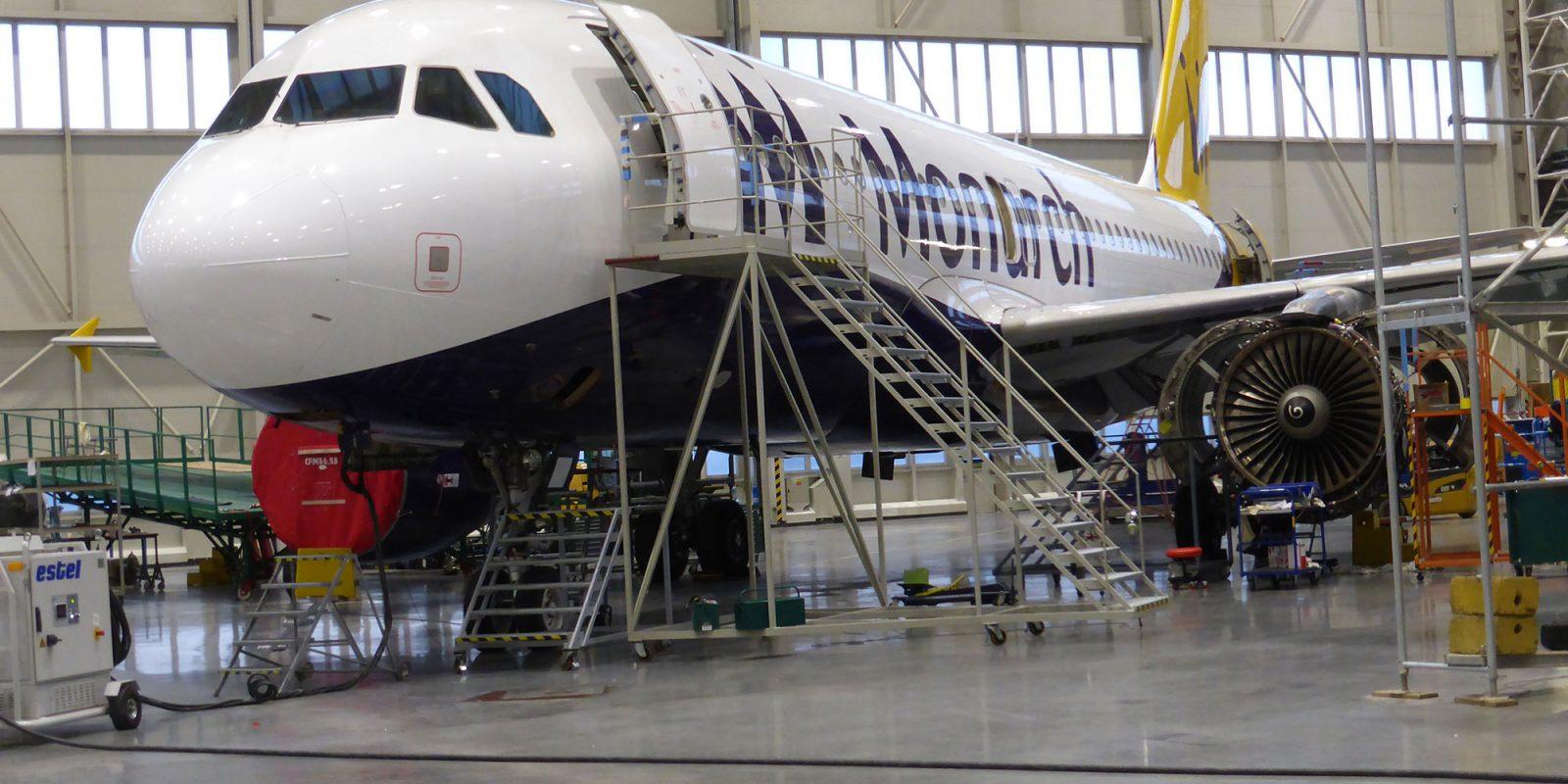 A320-ex-Monarch---Hangar-Ostrava-Photo-2